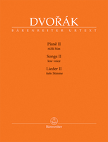 BA 11518_Dvorak_Pisne_II_cover_low voice